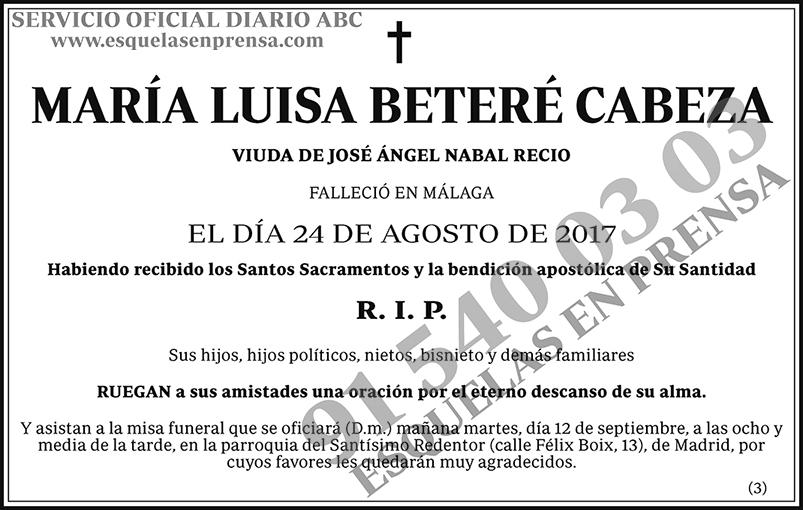 María Luisa Beteré Cabeza
